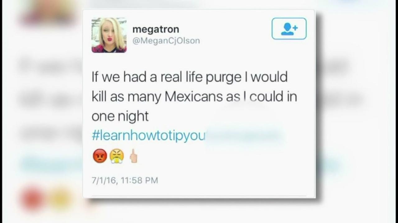 Waitress fired over violent, racist tweet