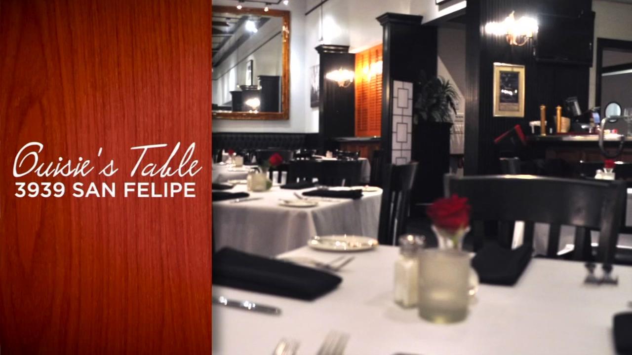 Ouisies Table in Houston Restaurant Weeks