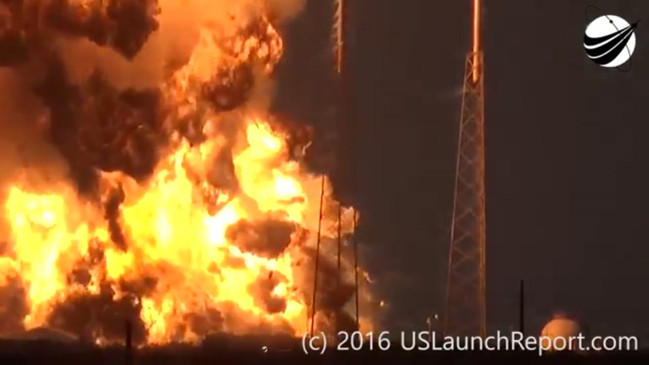 SpaceX explosion on camera