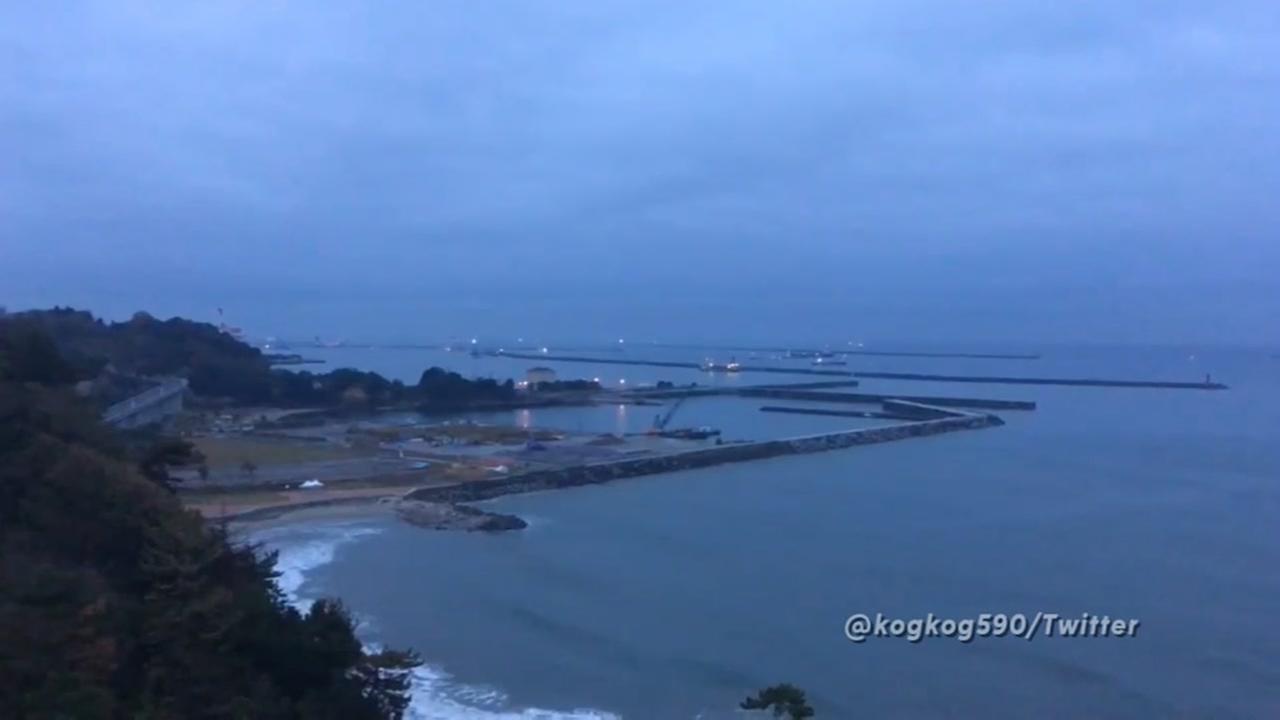 Tsunami warnings in Japan