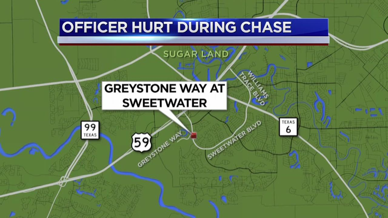 Officer hurt during chase