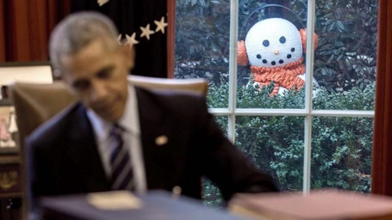 White House staffers play creepy joke on President Obama