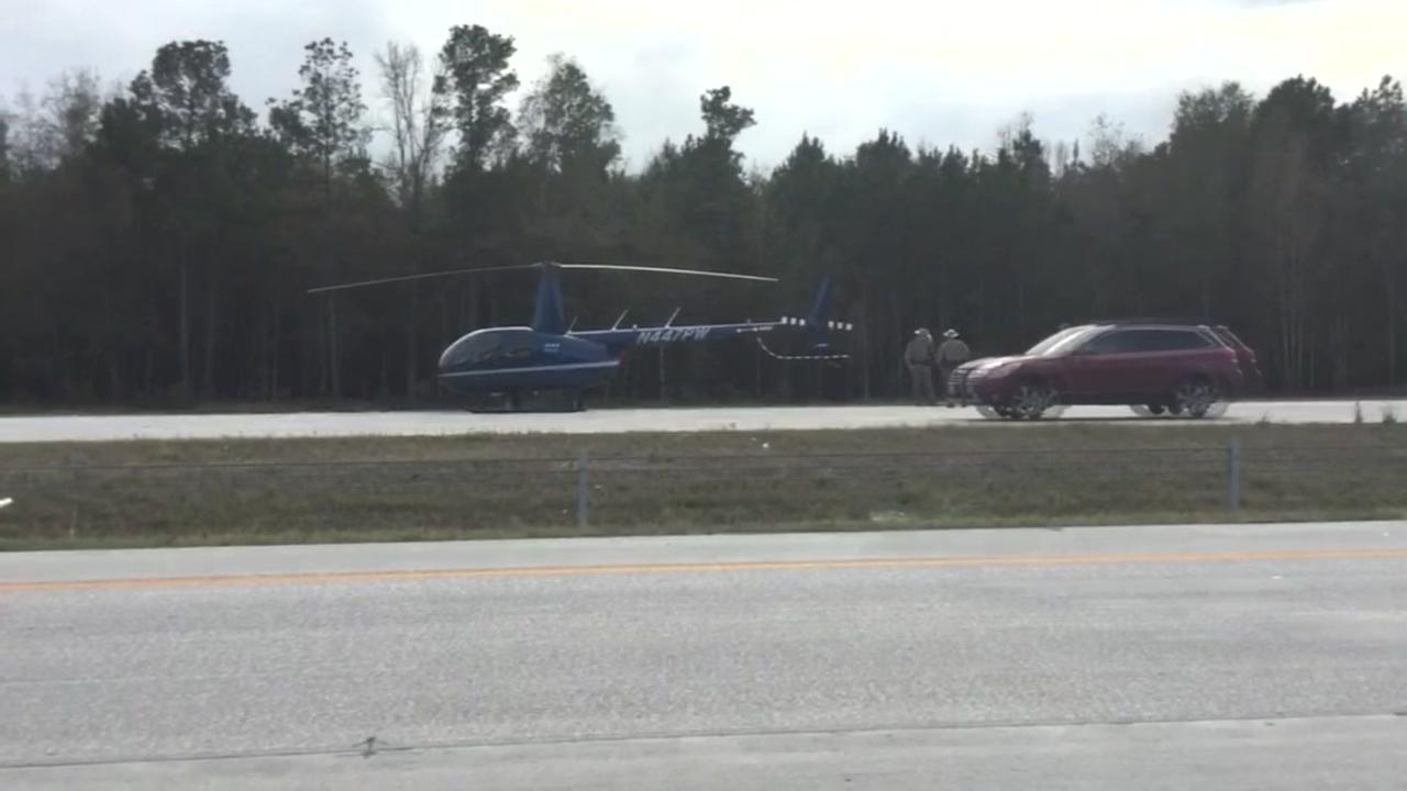 Helicopter makes emergency landing near Porter