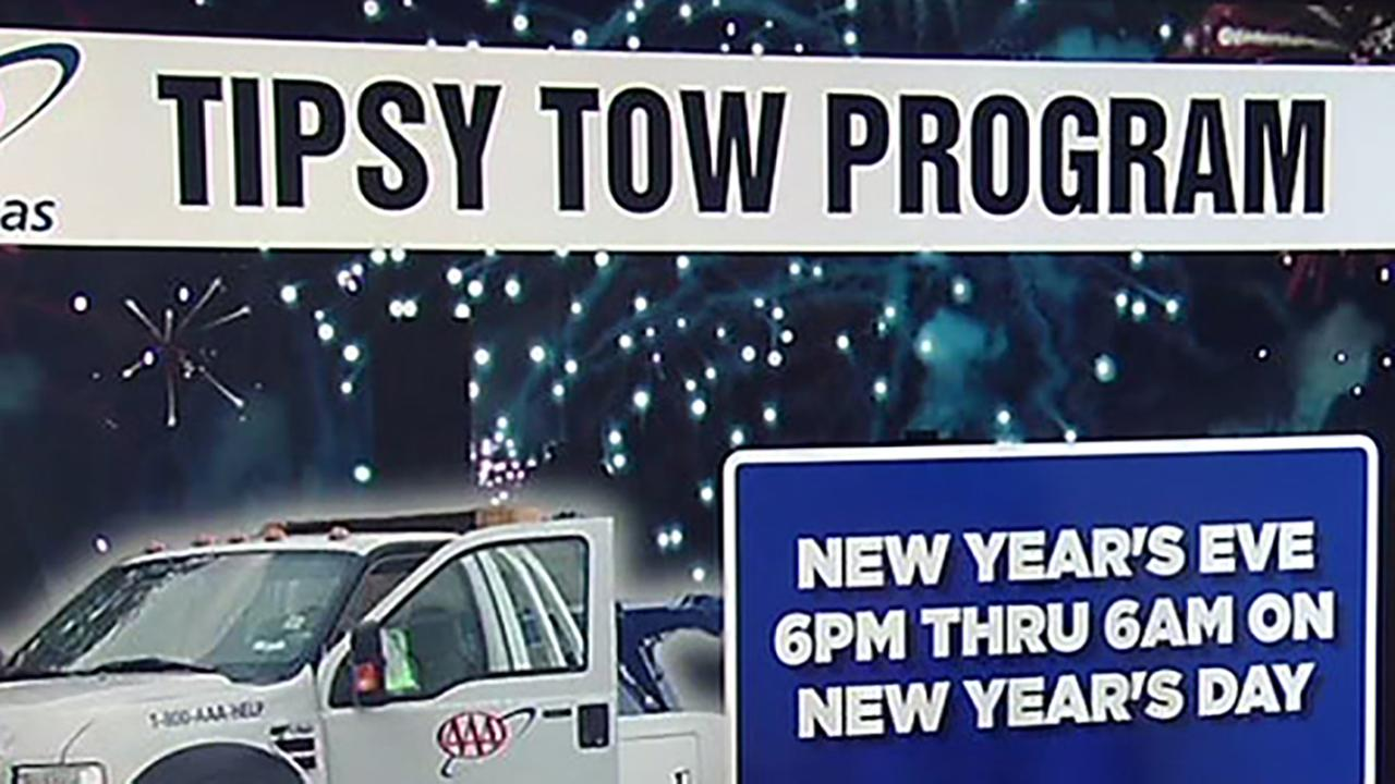 AAAs free Tipsy Tow program for New Years Eve.