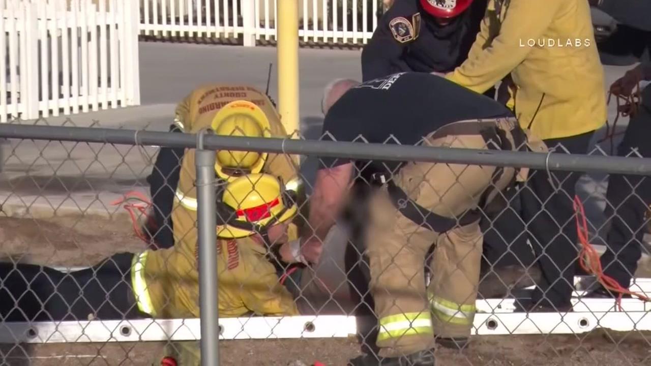 Boy rescued from sinkhole