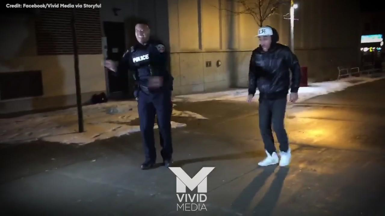 Cop starts dancing at reported fight scene