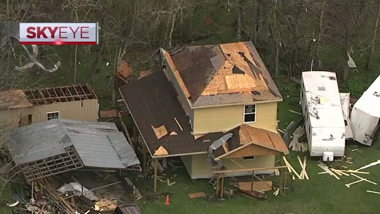 View of the damages above with SkyEye