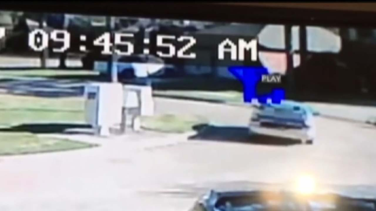 Surveillance video shows burglary which led to lockdown of schools