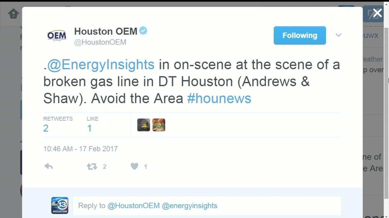 Authorities repairing gas leak in midtown