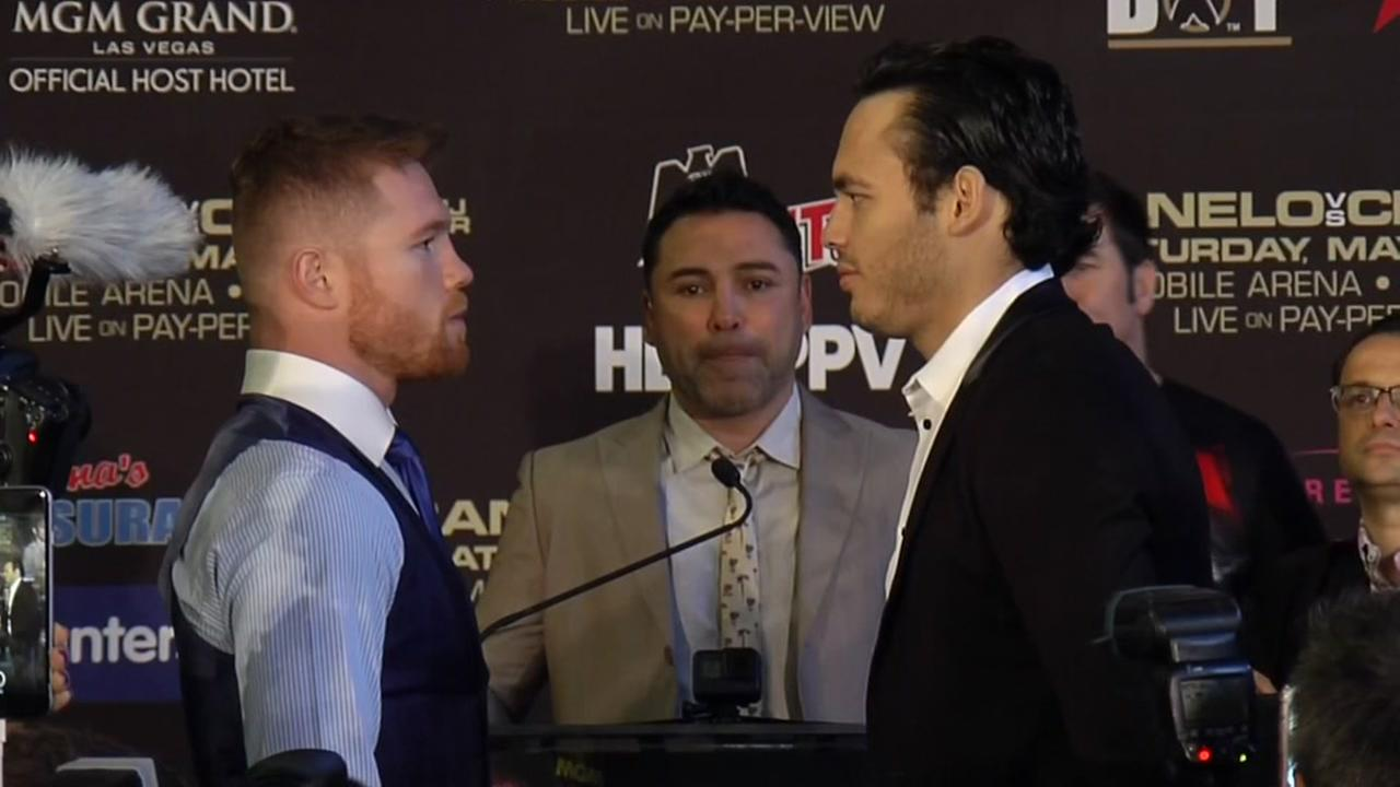 Canelo and Chavez face off at Minute Maid Park