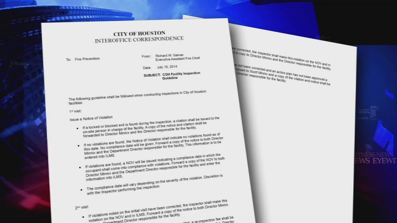 HFD releases clarification memo about inspecting city buildings