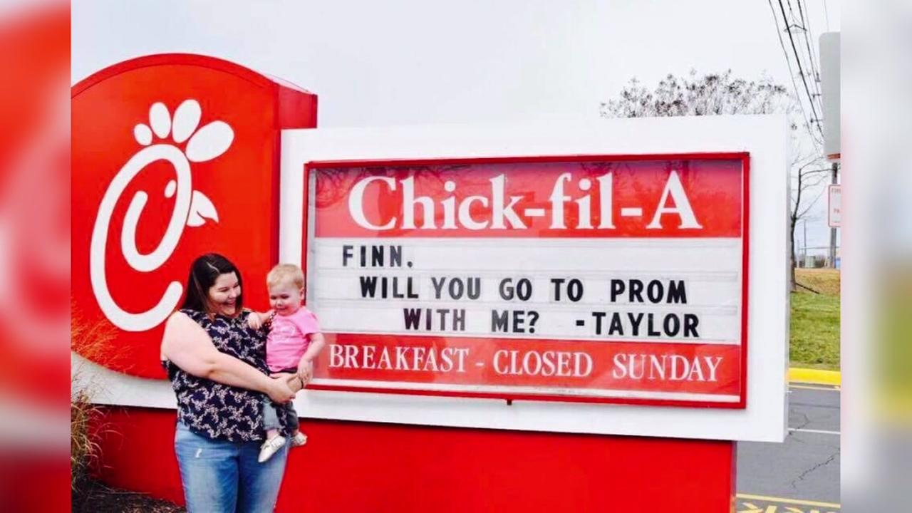 Toddler with heat defect gets picture perfect promposal