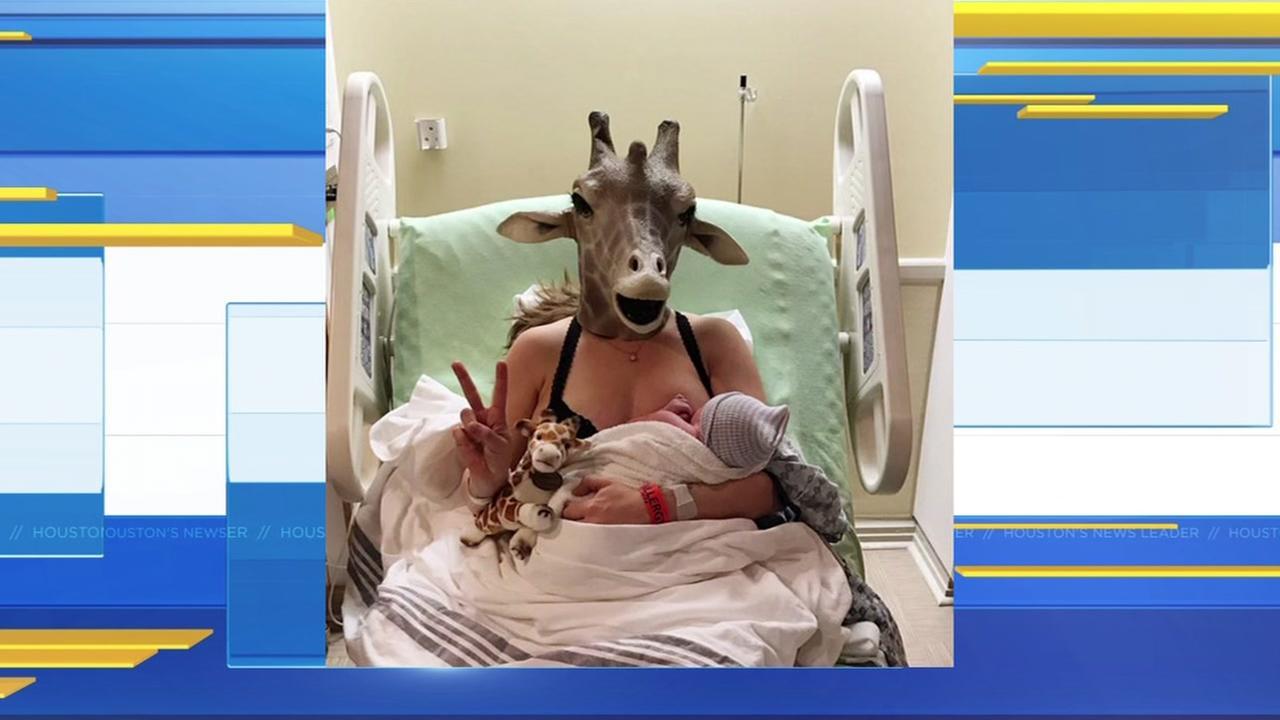 Mom who mocked pregnant giraffe livestream gives birth