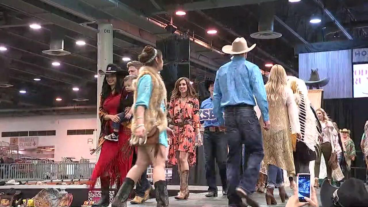 Models strut their stuff at the Rocking the Rodeo Runway Fashion Show
