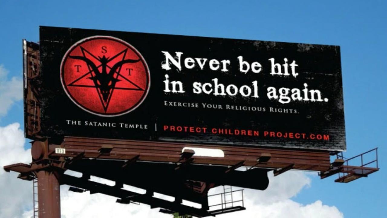 Satanic Temple billboard condemns corporal punishment in Texas schools