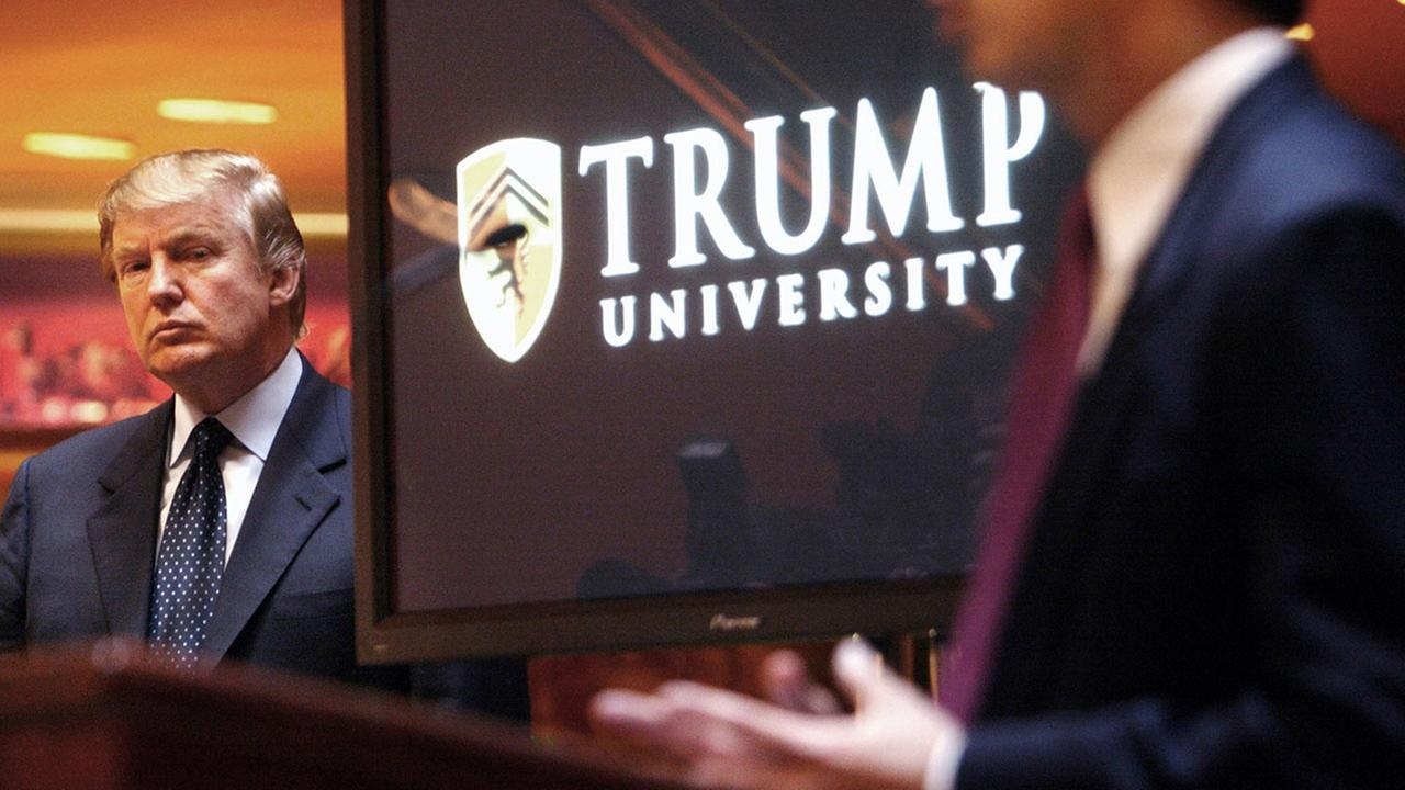 Real estate mogul and Reality TV star Donald Trump announces the establishment of Trump University in 2005.