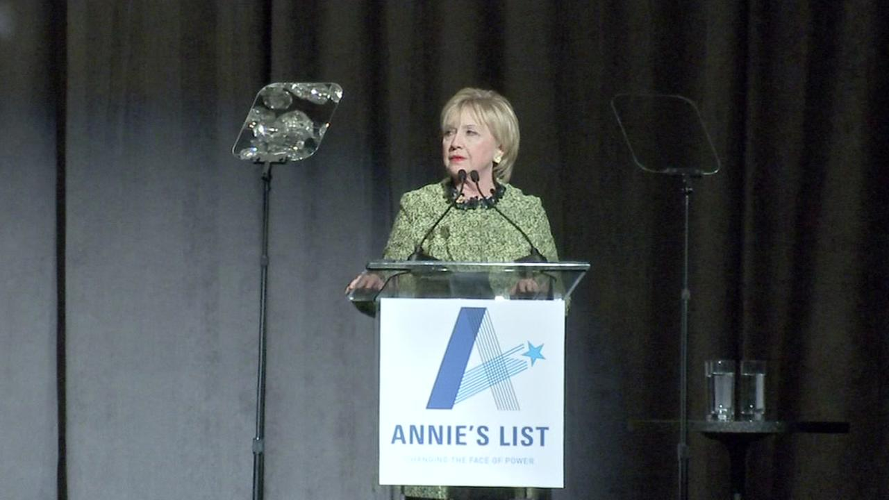 Hillary Clinton speaks at Annies List in Houston