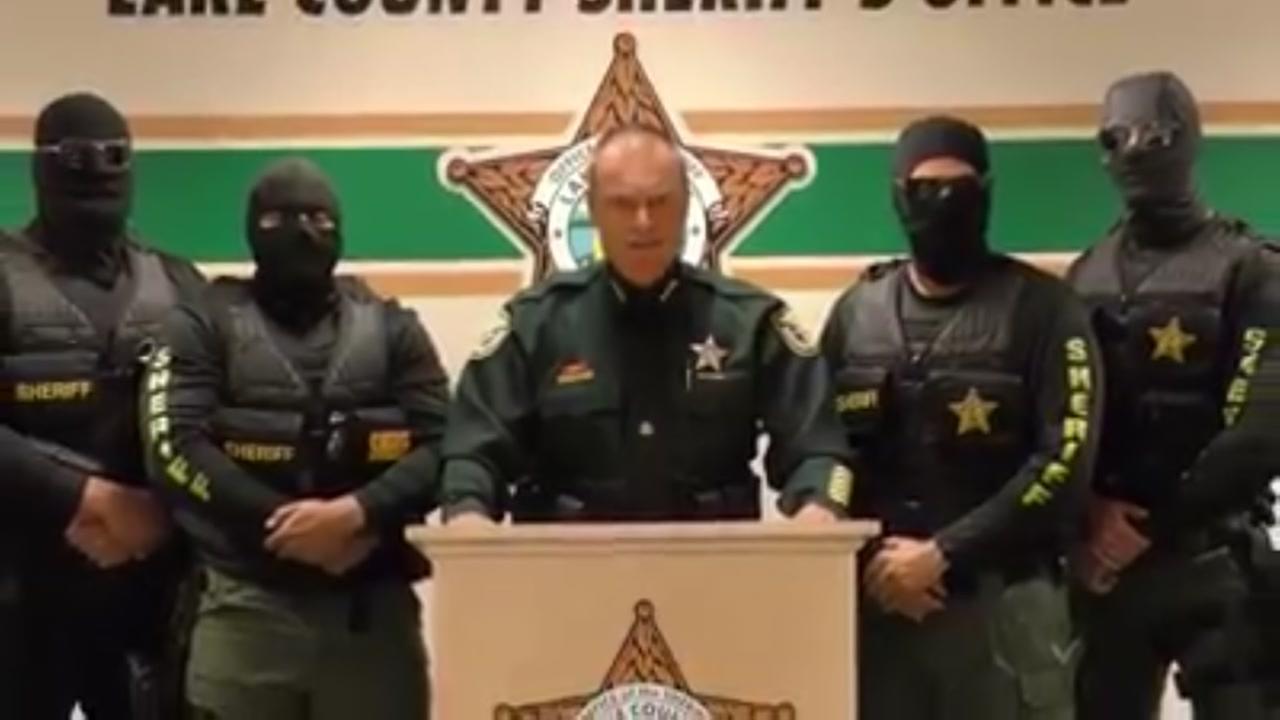 Police wear ski masks in viral warning to heroin dealers.