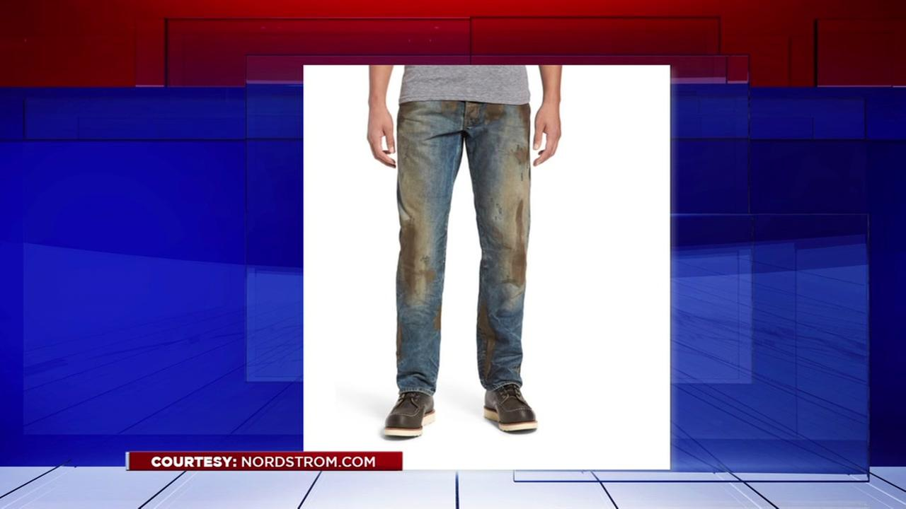 Nordstrom selling pre-dirtied jeans.