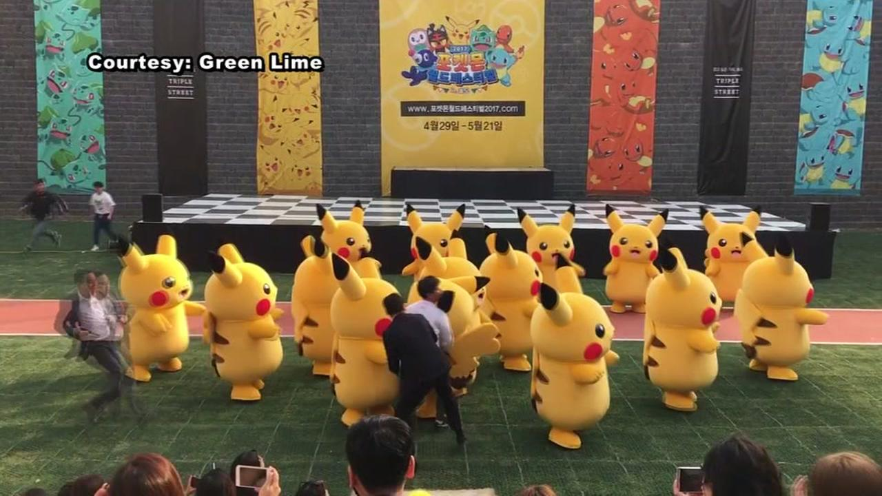 Deflating Pikachu rushed off stage