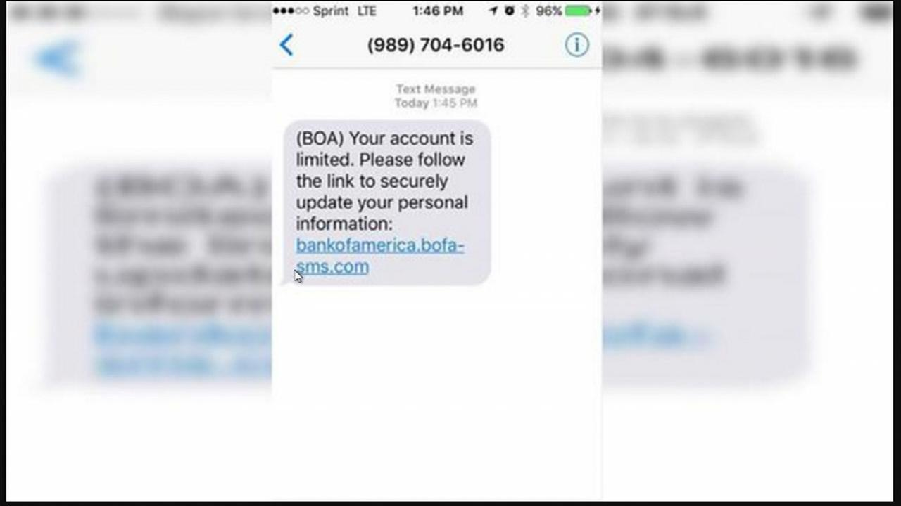 Bank of America Scam resurfaces