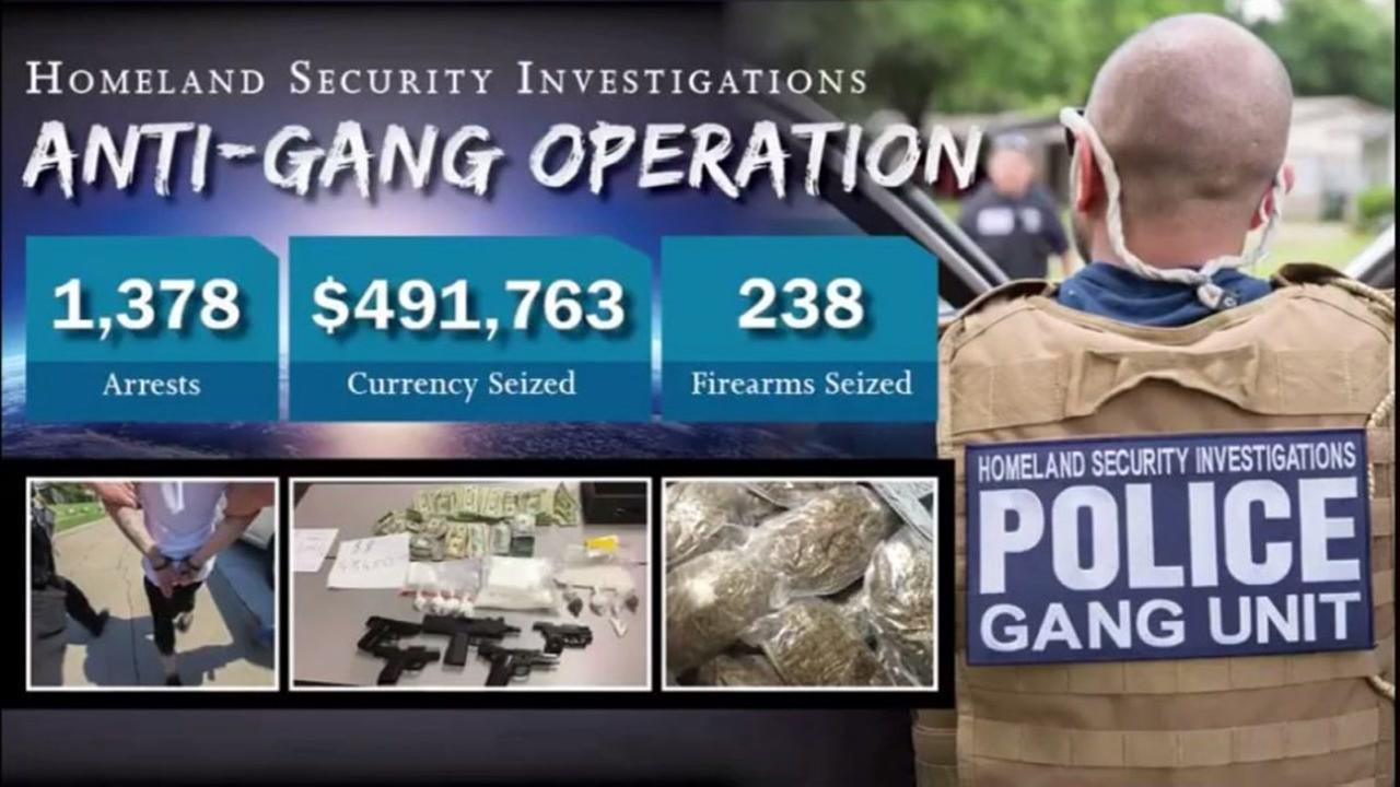 ICE arrests more than a 1thousand in gang crackdown