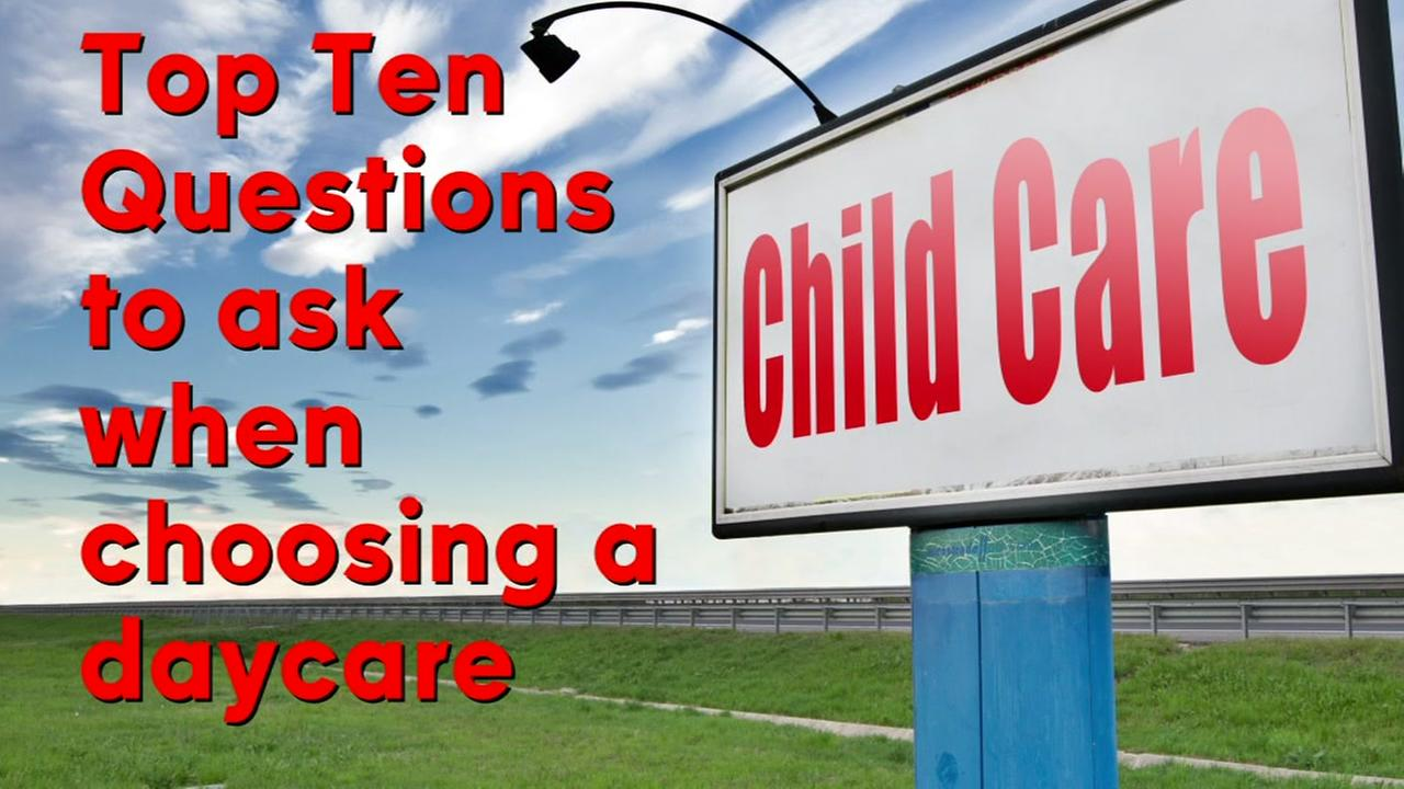 The Top ten questions to ask when searching for a daycare