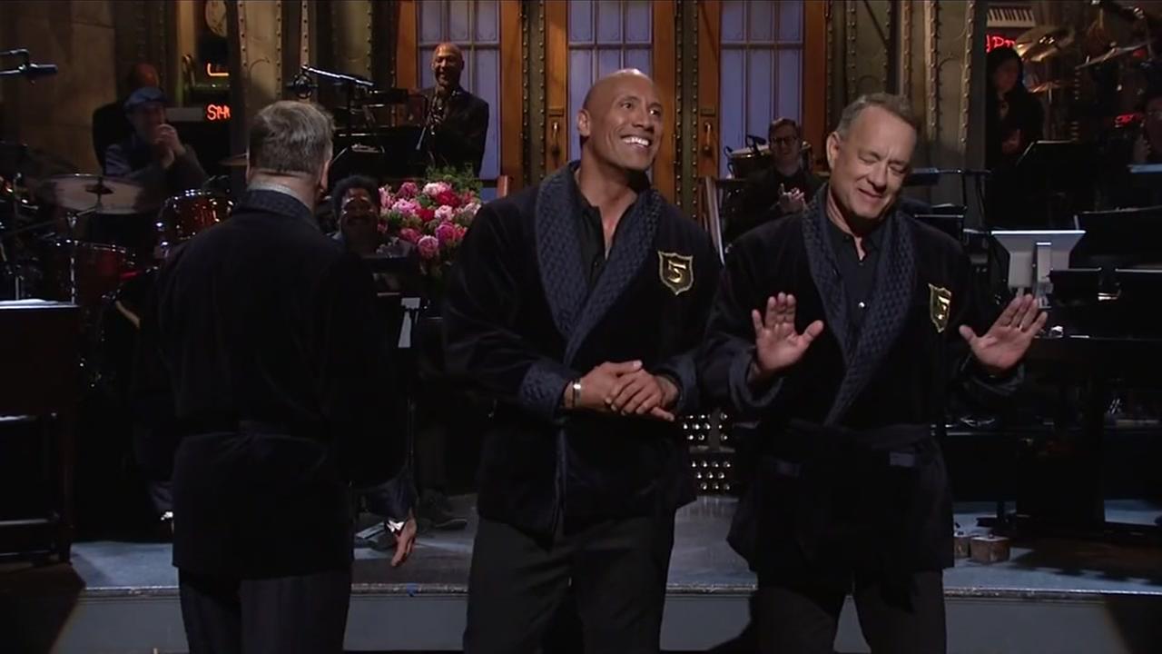 Dwayne Johnson and Tom Hanks tease 2020 presidential run