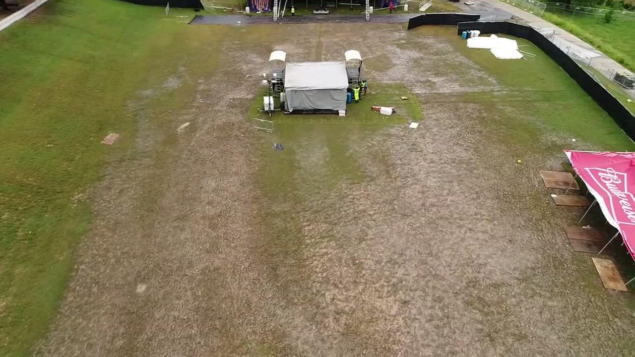 Drone video shows Free Press Summer Fest aftermath