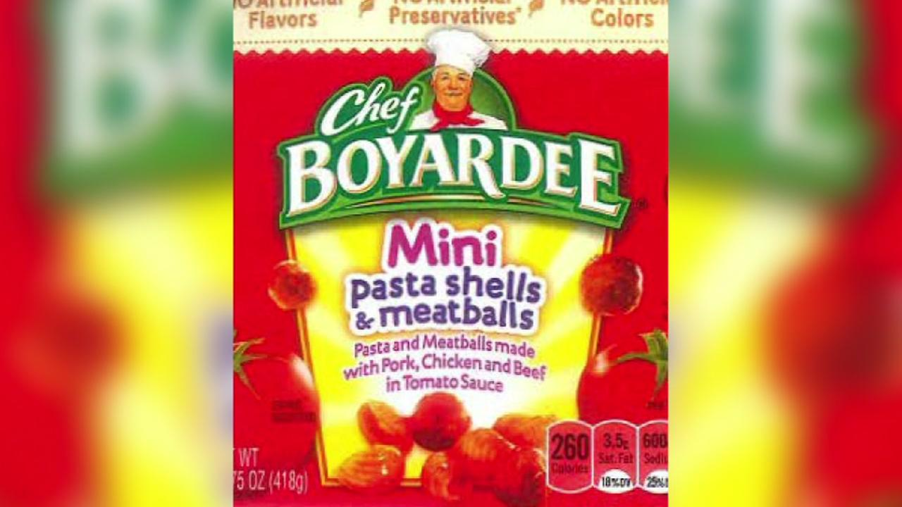 More than 700,000 pounds of spaghetti and meatballs recalled