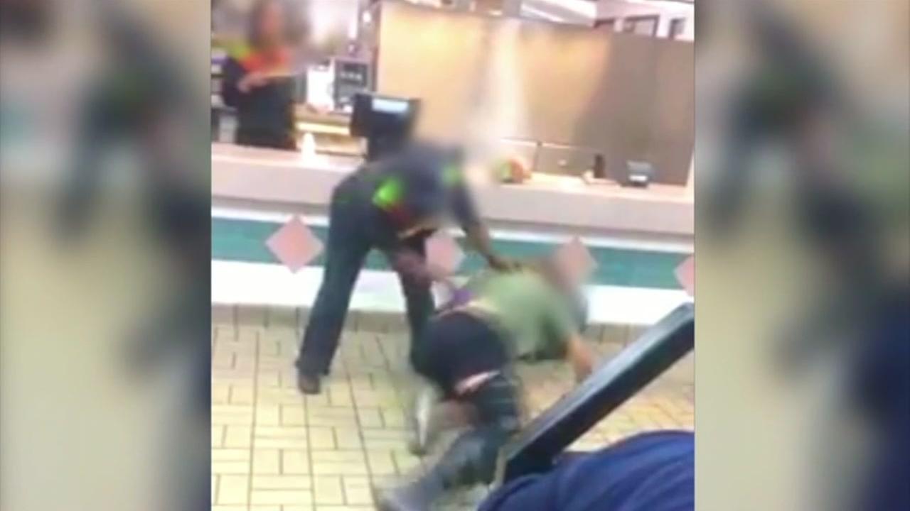 Eyewitness video captures scuffle inside Montrose Burger King