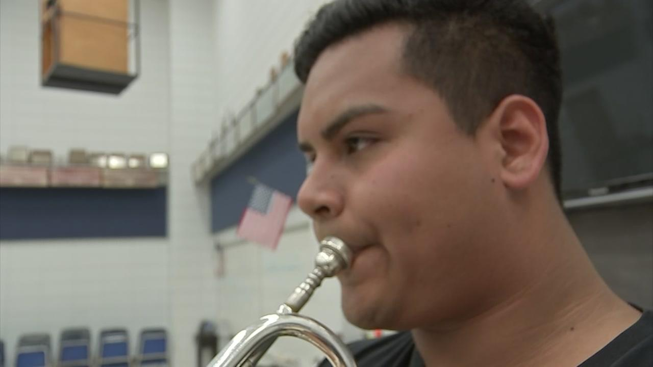 Young trumpet player makes big comeback