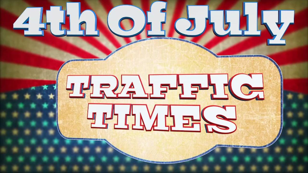 Traffic times for 4th of July