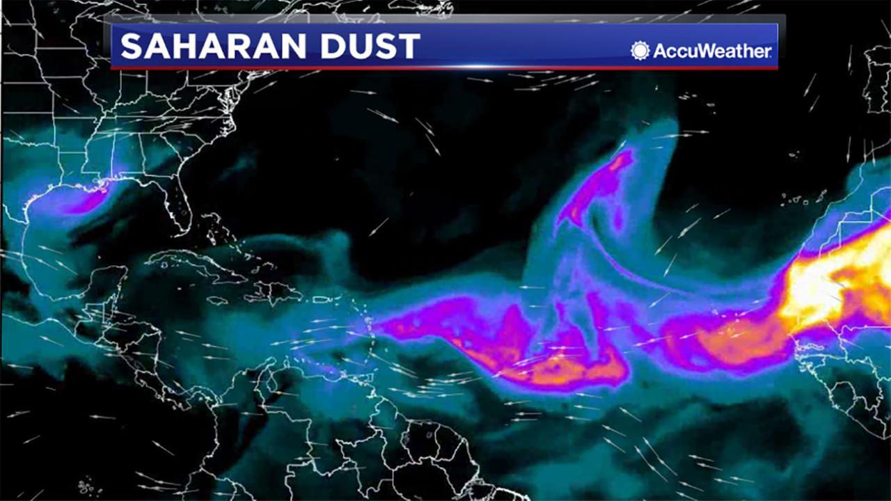 Dust from the Sahara Desert brings haze to Houston
