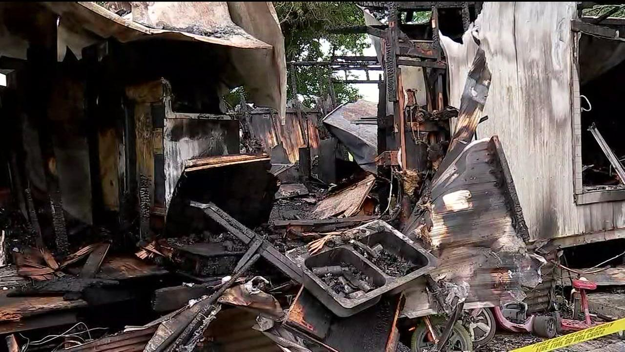 Two dead after fire erupts in mobile home near Richmond