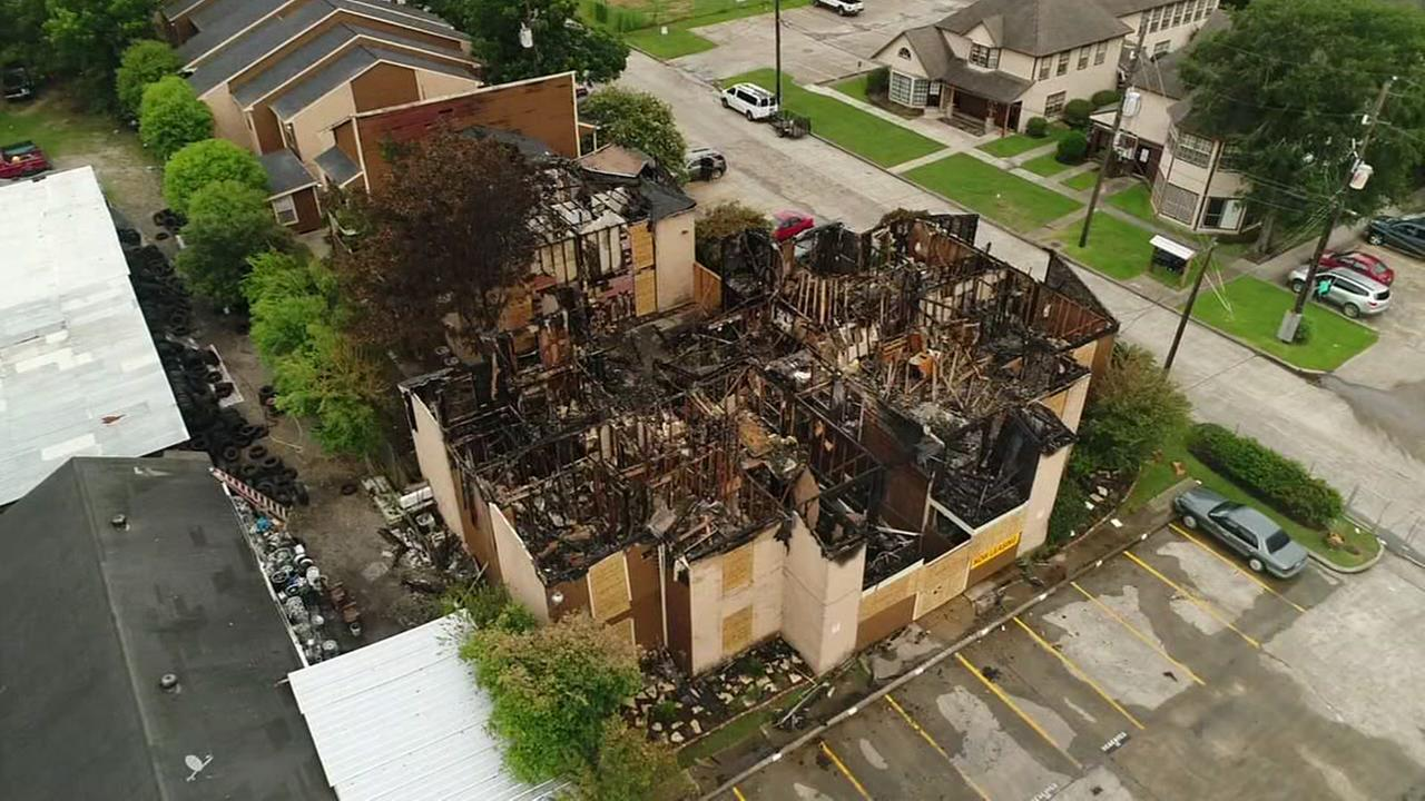 Drone footage shows Crosby fire damage
