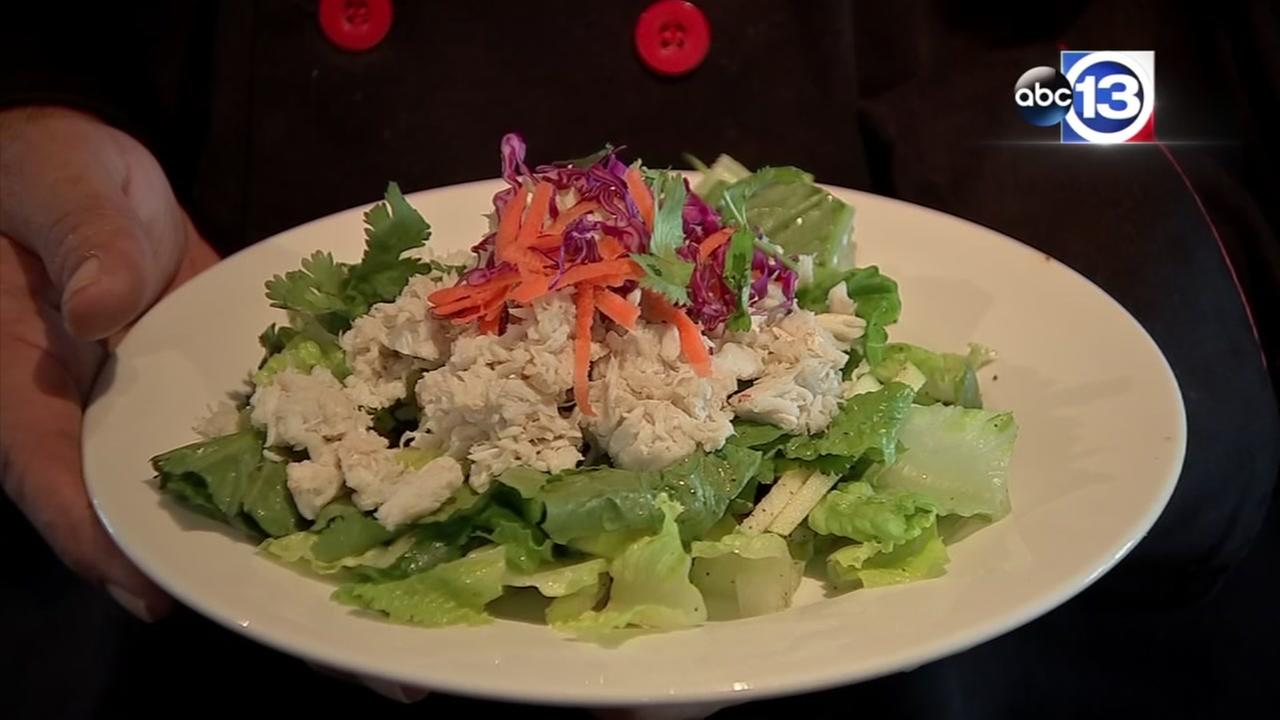 Crab apple Thai salad from Merloin