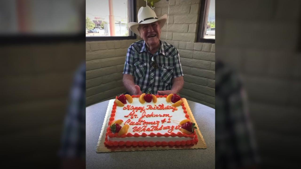 NeWhataburger throws surprise birthday party for grandpaw Keyword