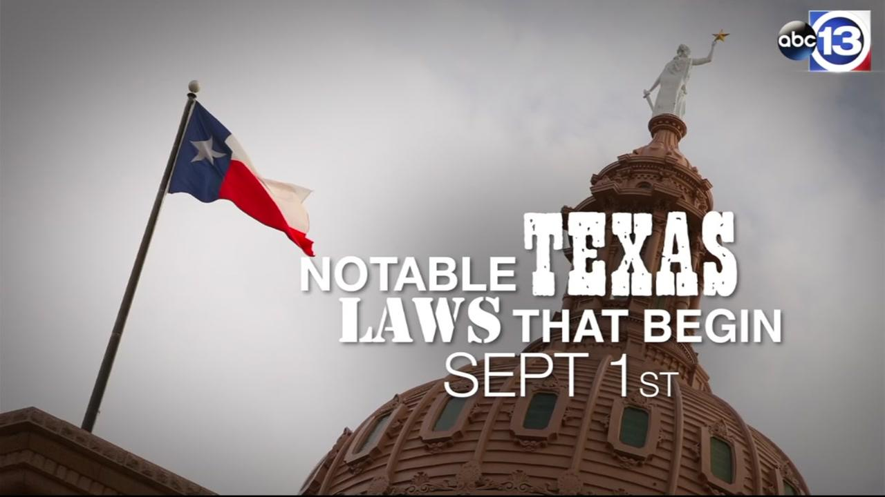 New Texas laws go in effect on Sept. 1