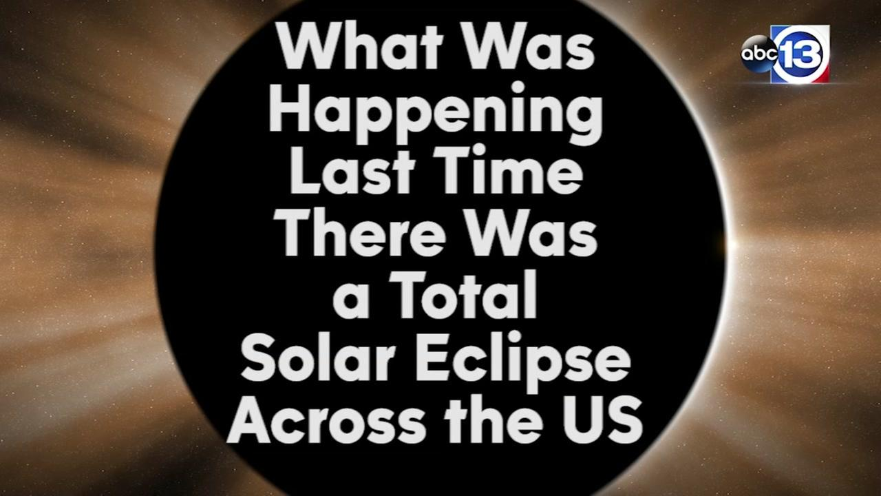 What was happening during the last total eclipse across the US