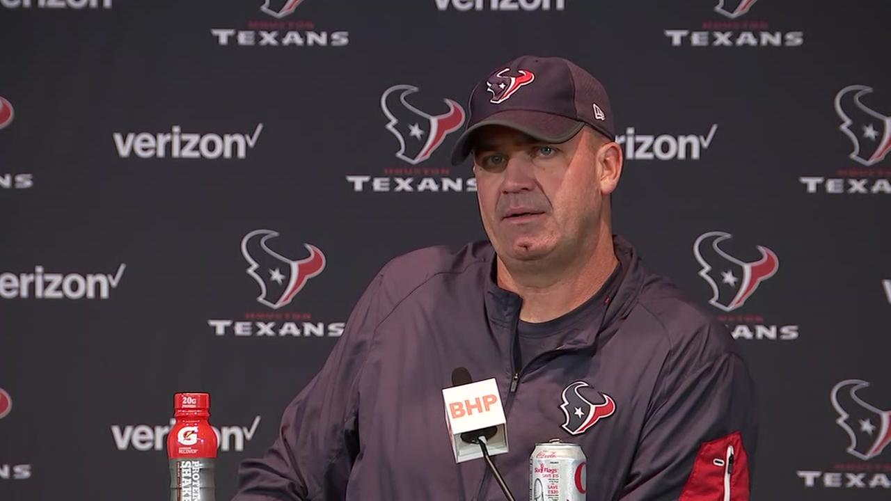 Bill OBrien speaks after Texans victory over the Patriots