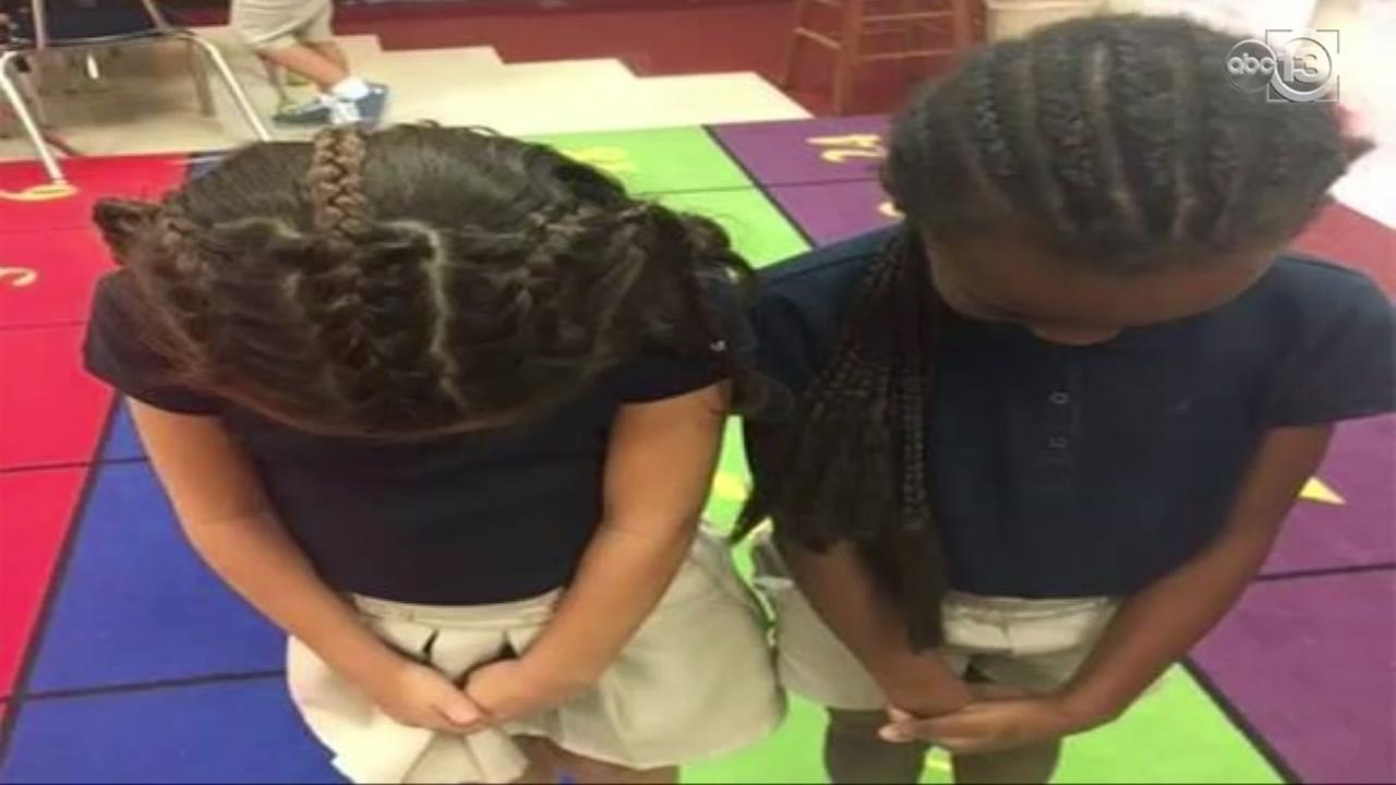 GirlGirl braids hair to match friend, sends message about racism