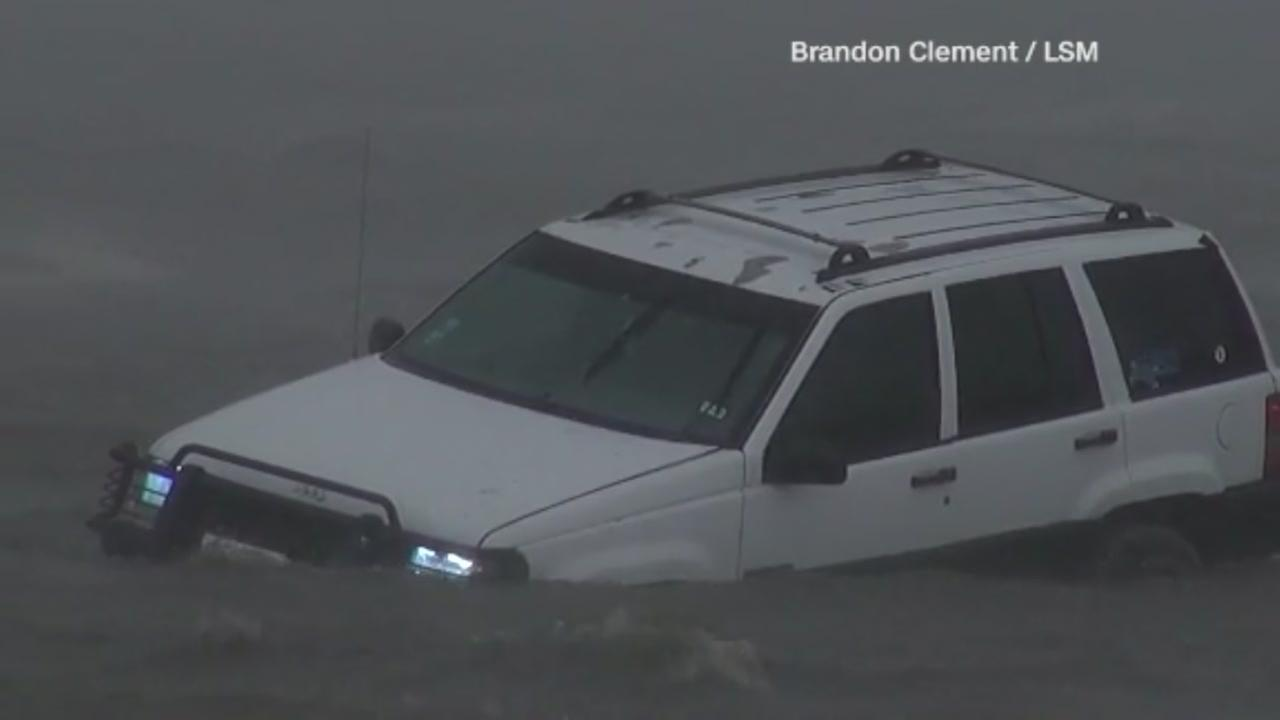 Car swamped by high water in Corpus Christi