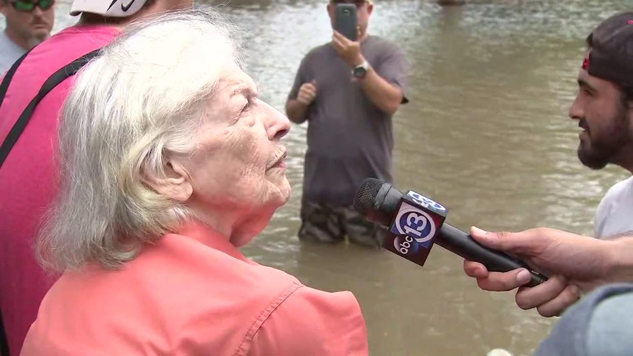 KABC reporter meets spunky 92-year-old in boat rescue