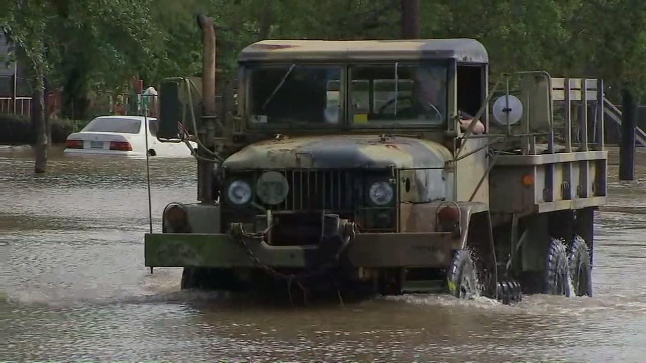 Marines float to the rescue in flooded Friendswood