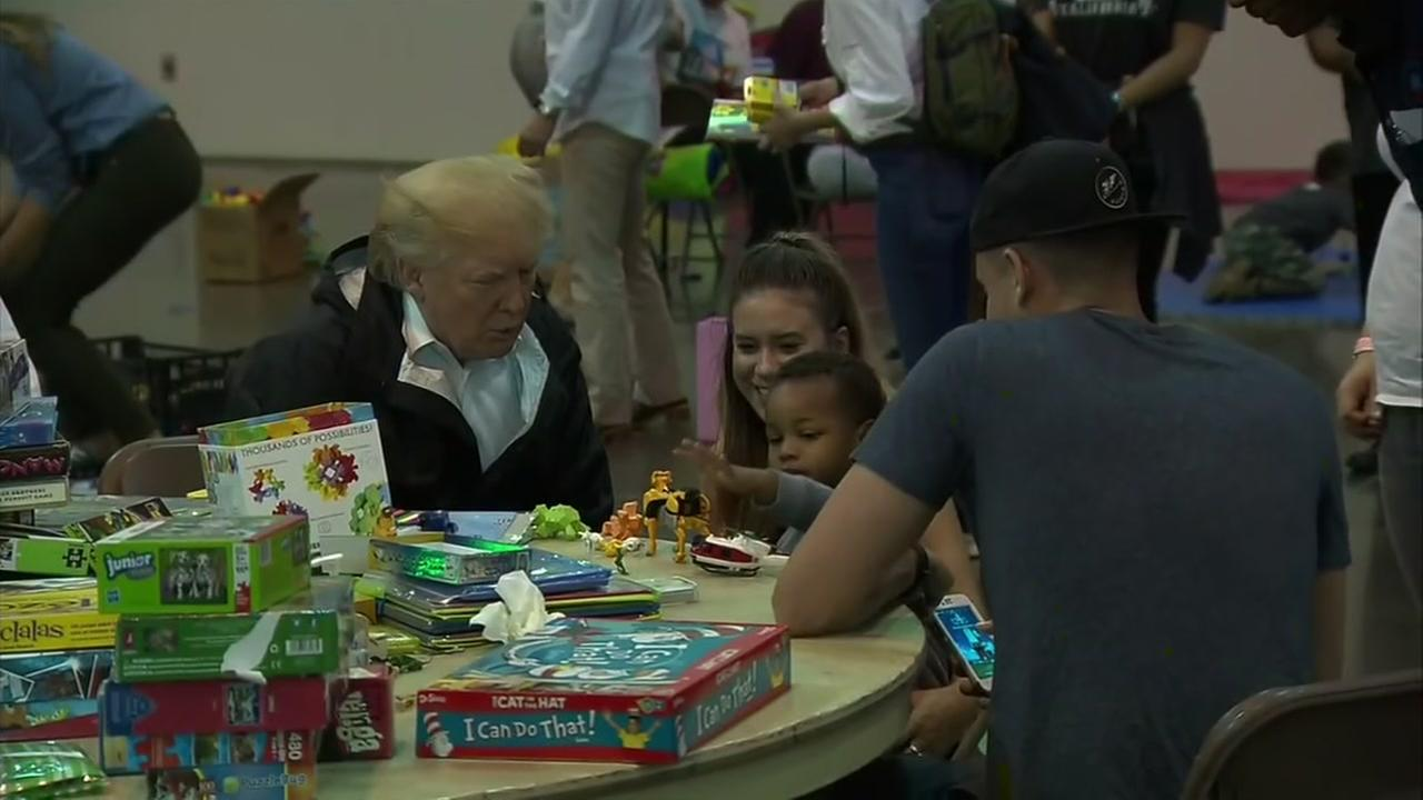 President Trump stops in Houston