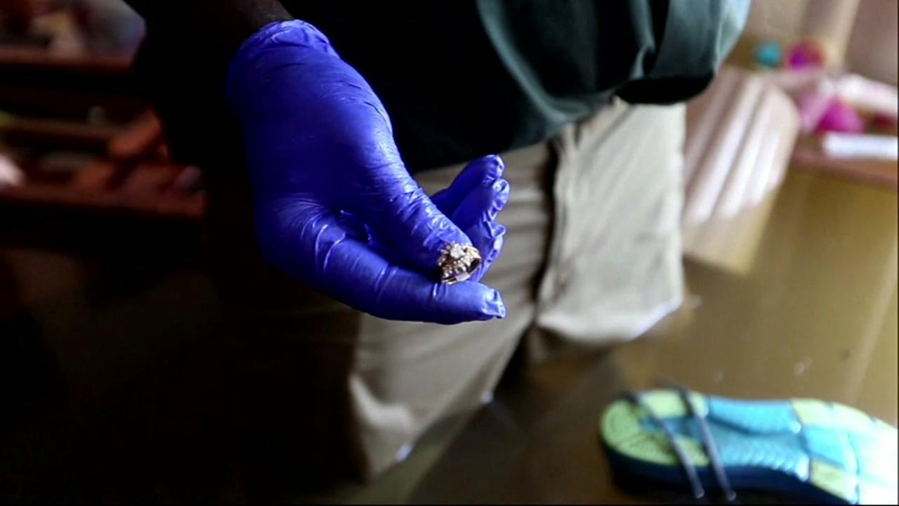 Port Arthur man finds wifes engagement ring in flooded home