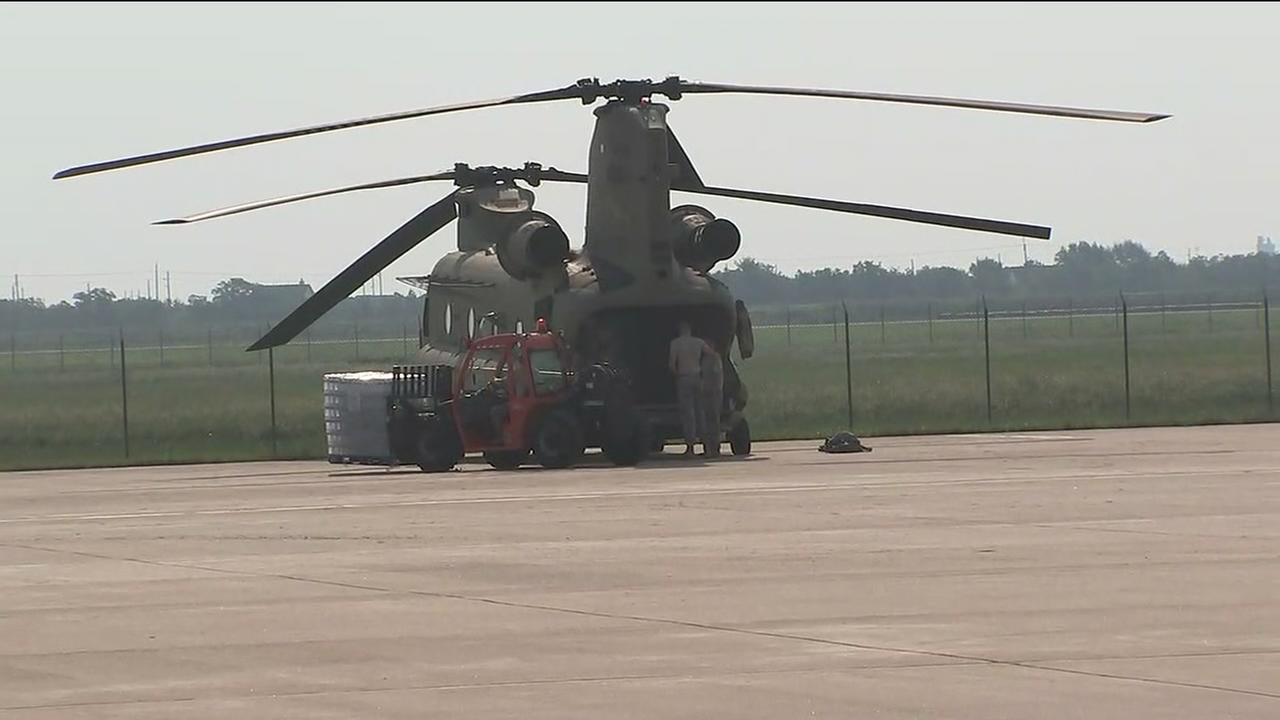 Texas National Guard takes to skies over Houston