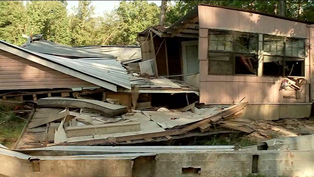 First-hand look at storm damage in Liberty County near Splendora