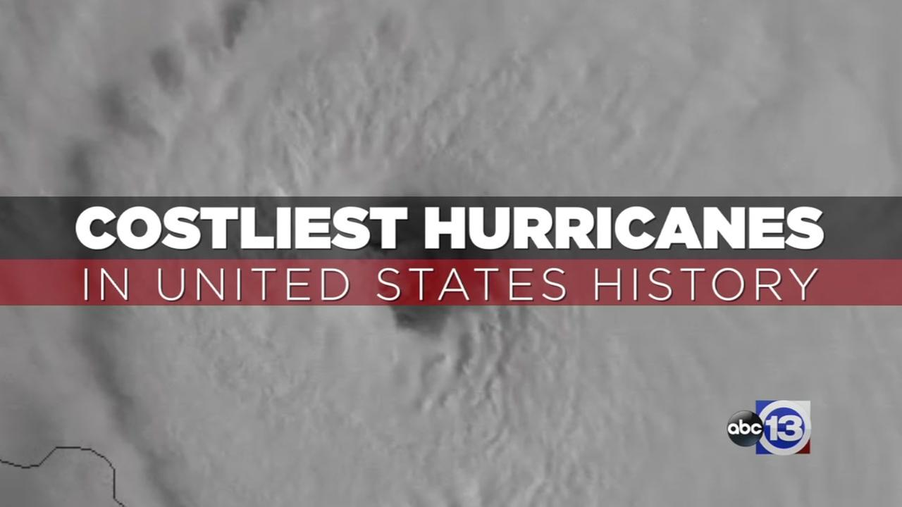 Costliest hurricanes in US history